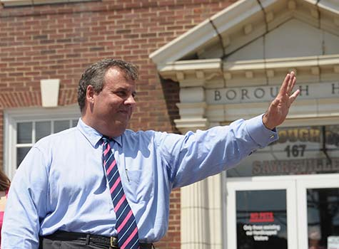 Christie at Hurricane Sandy