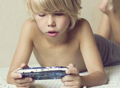 Kid Playing Video Game